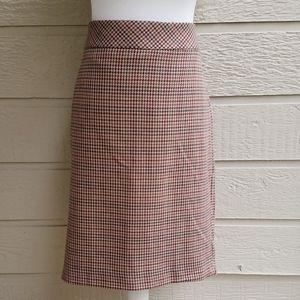 Banana Republic Factory plaid pencil skirt size14